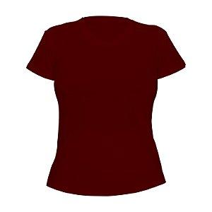 Kit 10 peças - Camiseta Poliéster Anti Pilling Vinho Feminina