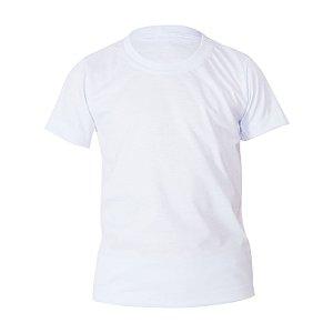 Kit 10 peças - Camiseta Poliéster Anti Pilling Branca Infantil
