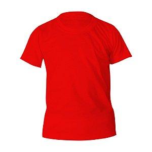 Kit 10 peças - Camiseta Poliéster Anti Pilling Vermelha Infantil