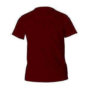 Kit 10 peças - Camiseta Poliéster Anti Pilling Vinho Infantil