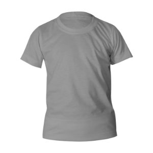 Kit 10 peças - Camiseta Poliéster Anti Pilling Cinza Claro Infantil