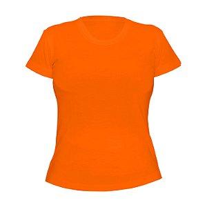 Kit 10 peças - Camiseta Poliéster Anti Pilling Laranja Feminina