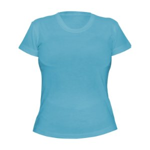 Kit 10 peças - Camiseta Poliéster Anti Pilling Azul Bebê Feminina