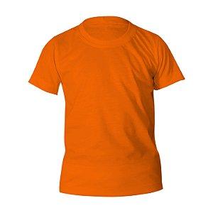 Kit 10 peças - Camiseta Poliéster Anti Pilling Laranja Infantil