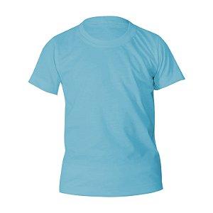 Kit 10 peças - Camiseta Poliéster Anti Pilling Azul Bebê Infantil
