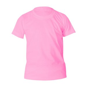 Kit 10 peças - Camiseta Poliéster Anti Pilling Rosa Bebê Infantil