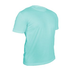 Kit 10 peças - Camiseta Poliéster Anti Pilling Azul Piscina Masculina