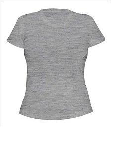 Kit 10 peças - Camiseta Algodão Mescla Feminina