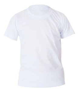 Camiseta Algodão Branca Infantil
