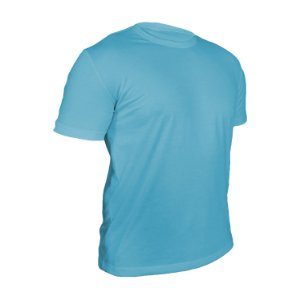 Camiseta Poliéster Anti Pilling Azul Bebê Masculina