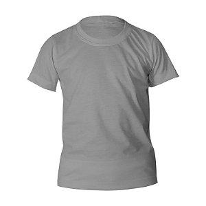 Camiseta Poliéster Anti Pilling Cinza Claro Infantil