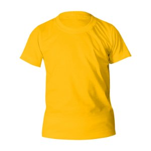 Camiseta Poliéster Anti Pilling Ouro Infantil