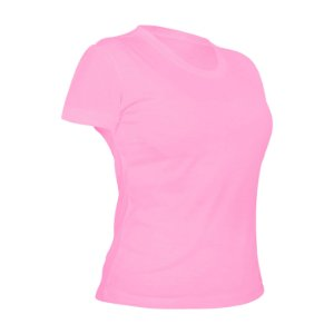 Camiseta Poliéster Anti Pilling Rosa Bebê Feminina