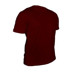 Camiseta Poliéster Anti Pilling Vinho Masculina