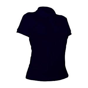 Camiseta Polo Piquet Marinho Feminina