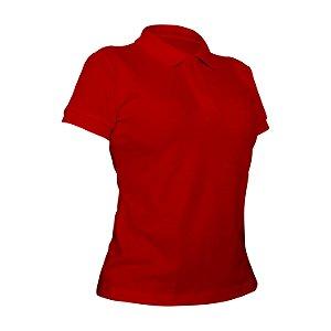 Camiseta Polo Piquet Vermelha Feminina