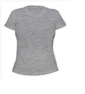 Camiseta Algodão Mescla Feminina