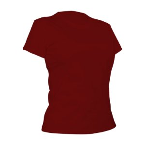 Camiseta Algodão Vermelha Feminina