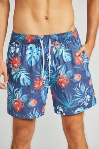 SHORTS ESTAMPADO ORANGE FLOWERS
