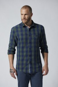 CAMISA YARN DYE INDIGO CHECKS