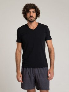 CAMISETA GOLA V STRETCH