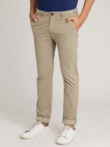 CALÇA CHINO STRETCH SLIM TINTURADA ESTAMPADA