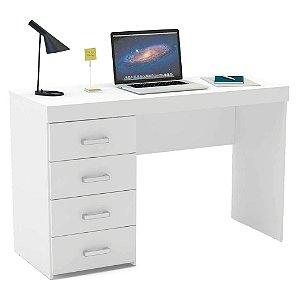 Escrivaninha reta quatro gavetas  confeccionado em MDP 15mm marca Seara Móveis Inteligentes!