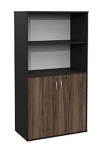 Armário estante para escritório com  duas portas e nicho aberto 15mm!