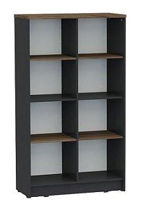 Armário alto aberto para escritório sem portas tipo colméia em MDP com prateleiras removíveis!