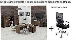 Kit linha New Plus com 7 peças  com cadeira Presidente GRÁTIS!!