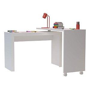 Mesa em L para escritório com tampo giratório confeccionado em MDP25\15mm!