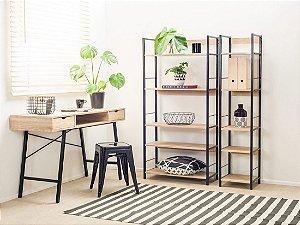 Kit linha One com 3 peças com uma mesa e duas estantes