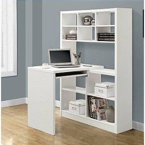 Kit armário com mesa para escritório em MDP, acompanha suporte para teclado com corrediça