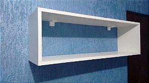 Nicho em MDP de 25mm de espessura na cor branco, ideal para decorar qualquer espaço!