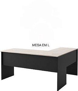 Mesa em L linha basic confeccionado em MDP 15mm 1200x1100x750