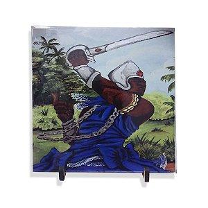 Azulejo de Ogum 20cm com Suporte