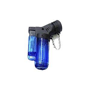 Isqueiro Mini Neon Torch Recarregável Maçarico com Gás Azul