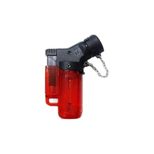 Isqueiro Mini Neon Torch Recarregável Maçarico com Gás Vermelho