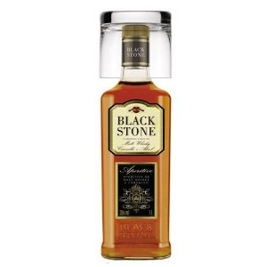Aperitivo Malte Whisky Black Stone Com Copo 1L