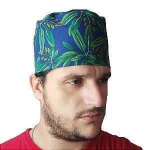 Eketé azul com flores verdes