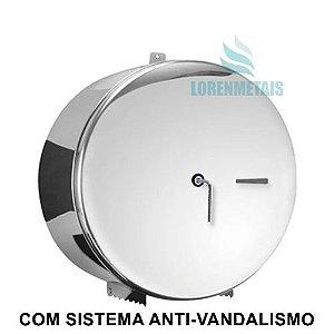 Porta Rolao Inox 430 Com Trava 400 MT Com Porta Cadeado - 20009