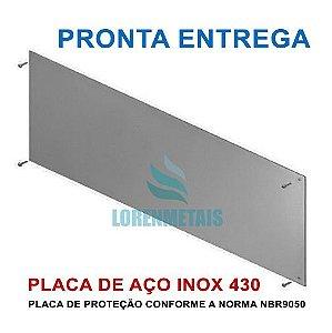Chapa De Proteção Para Porta inox 430 PNE 40x80 Cm - 13201