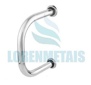 Barra de apoio em Aluminio lateral para lavatório - 24010