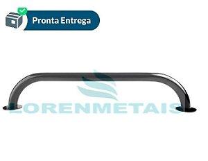 Barra de apoio para banheiro em inox 304 reta preta 50 cm conforme a norma NBR9050 - 1038