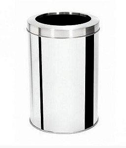 Lixeira Aço Inox Para Pia Com Aro 30 Litros  - 11008