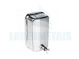 Saboneteira de Inox para sabonete líquido. 1300 ML Com Visor - 17005