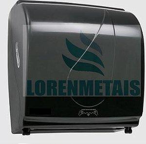 Toalheiro Dispenser de Papel Toalha Bobina Auto corte Compacto ABS Black - 8007