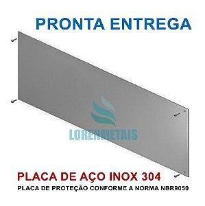 Placa De Proteção ou chapa de impacto para porta inox PNE 92 Cm - 1045