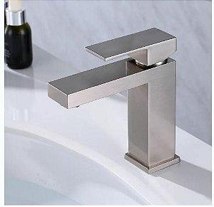 Torneira Monocomando Banheiro Quadrada Baixa Gbs17 Escovada