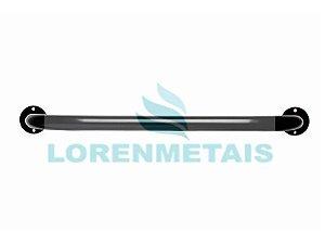 Barra de Apoio para Banheiro em Alumínio Reta Preta 80cm - 24020